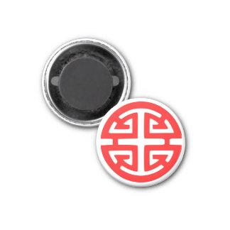 Prosperity symbol 3 cm round magnet