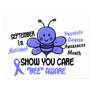 Prostate Cancer Awareness Month Bee 1.1 Postcard