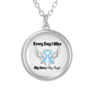 Prostate Cancer Every Day I Miss My Hero Round Pendant Necklace