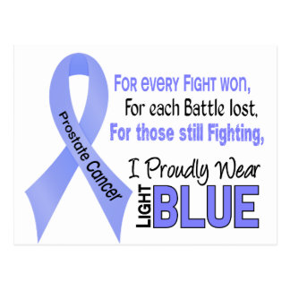 Prostate Cancer I Proudly Wear Light Blue 1 Postcard