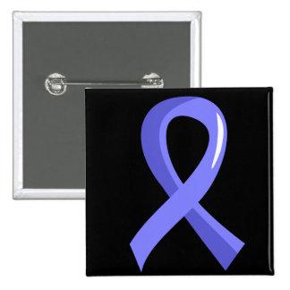 Prostate Cancer Light Blue Ribbon 3 15 Cm Square Badge