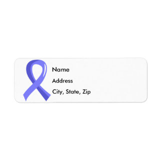 Prostate Cancer Light Blue Ribbon 3 Return Address Label