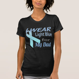 Prostate Cancer Light Blue Ribbon Awareness Logo T-Shirt