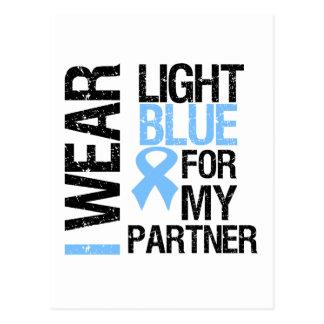 Prostate Cancer Light Blue Ribbon Partner Postcard