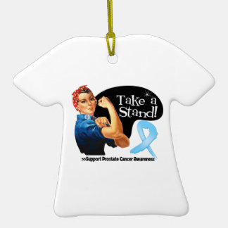 Prostate Cancer Take a Stand Christmas Ornament