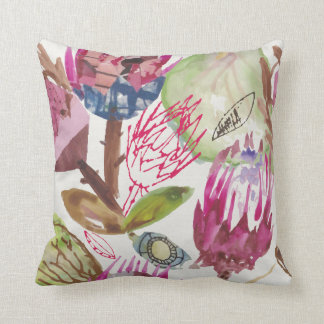 Protea / african pattern / cape town  / fynbos / cushion
