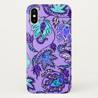 Protea Batik Hawaiian Tropical Floral Lilac iPhone X Case