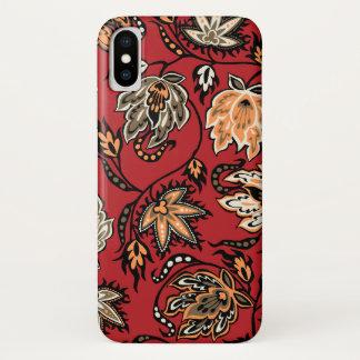 Protea Batik Hawaiian Tropical Floral Red iPhone X Case
