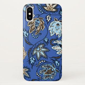 Protea Batik Hawaiian Tropical Floral Royal iPhone X Case