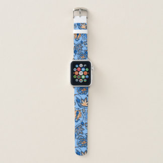 Protea Batik Hawaiian Tropical Floral Sky Blue Apple Watch Band