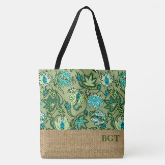Protea Batik Hawaiian Tropical Monogram Beach Bag