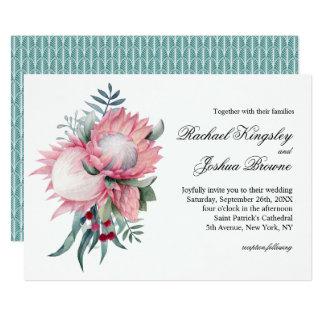 Protea Fantasy Exotic Floral Wedding Card
