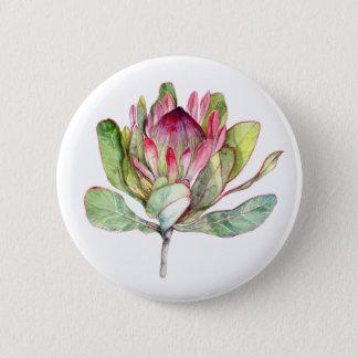 Protea Flower 6 Cm Round Badge
