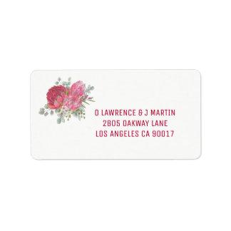 Protea Flower Address Labels