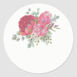 Protea Flower Wedding Favor Stickers