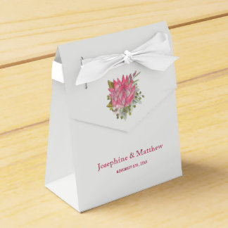 Protea Flower Wedding Favour Box