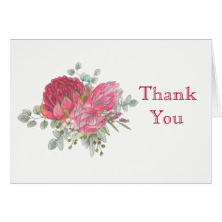 Protea Flowers Thank You Card