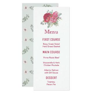 Protea Flowers Watercolor Flower Menus Card