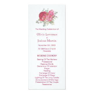 Protea Flowers Watercolor Wedding Programs