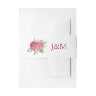 Protea Flowers Wedding Invitation Belly Bands Invitation Belly Band