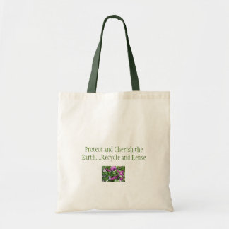 Protect and Cherish the Earth Canvas Bags