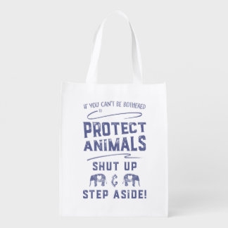 Protect Animals Reusable Grocery Bag