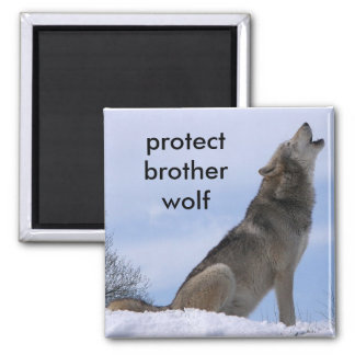 protect brother wolf square magnet