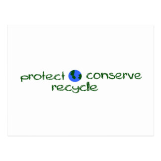 Protect Conserve Recycle Post Cards