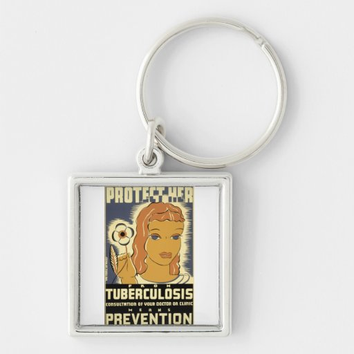 Protect Her From Tuberculosis Key Chain