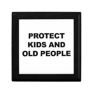 Protect Kids and Old People Gift Box