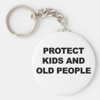 Protect Kids and Old People Key Ring