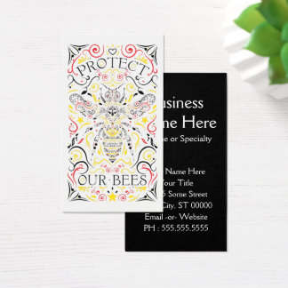 protect our bees business card