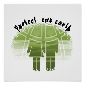 Protect Our Earth T-shirts and Gifts Poster