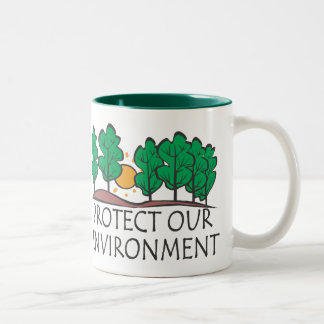 Protect Our Environment Two-Tone Mug