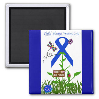Protect our future blue ribbon magnet