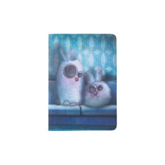 "Protect-passports ""Rabbit of living room "" Passport Holder"