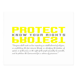 Protect Protest Postcard