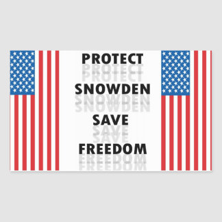 Protect Snowden Save Freedom - Decal Rectangular Sticker