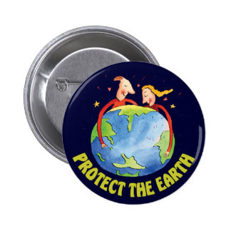 Protect The Earth 6 Cm Round Badge