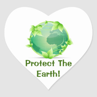 Protect The Earth Heart Sticker