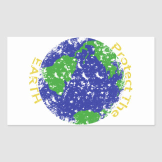 Protect the Earth Rectangular Stickers