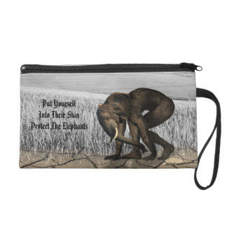 Protect The Elephants Wristlet Clutches