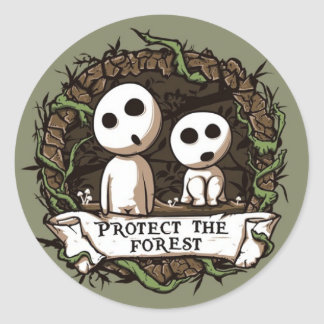Protect the Forest! Classic Round Sticker