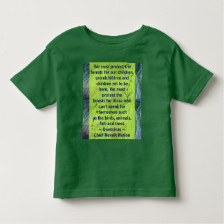 protect the forests toddler shirt