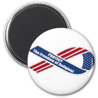 Protect the freedom of Religion 6 Cm Round Magnet