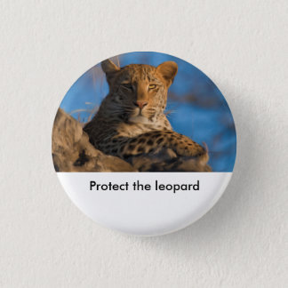 Protect The Leopard 3 Cm Round Badge