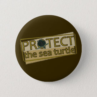 Protect the Sea Turtle 6 Cm Round Badge