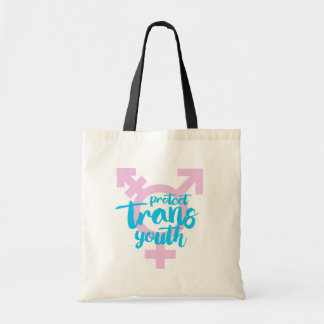 Protect Trans Youth - Trans Symbol - -  Tote Bag