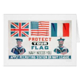 Protect Your Flag - Navy Needs You (US02143) Greeting Card
