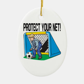Protect Your Net Ceramic Ornament